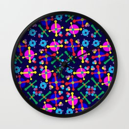 Outer Space Jacks Navy Wall Clock
