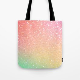 Glitter Pink Gold Mint Sparkle Ombre Tote Bag