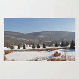 Winter Snow Scene Landscape Photo Rug