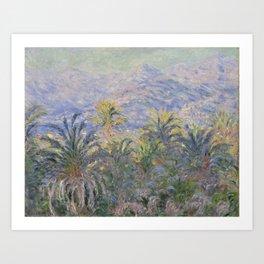 Palm Trees at Bordighera Art Print