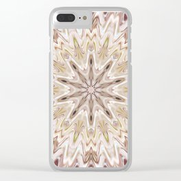 White Wave 2 Clear iPhone Case