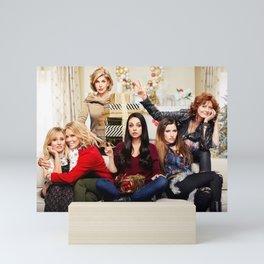 A Bad Moms Christmas 4k 2017 movie thriller Kristen Bell Cheryl Hines Christine Baranski Mila Kunis  Mini Art Print