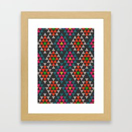 Geometric Aztec ornament Framed Art Print