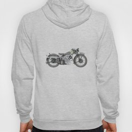 1935 Panther Motorcycle illustration Hoody