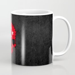 Flag of Turkey on a Chaotic Splatter Skull Coffee Mug