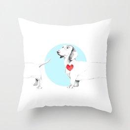 Long dog Throw Pillow