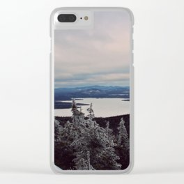 Winter on Bigelow Clear iPhone Case