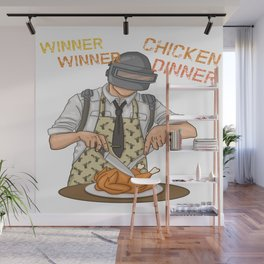 PUBG WINNER WINNER CHICKEN DINNNER Wall Mural