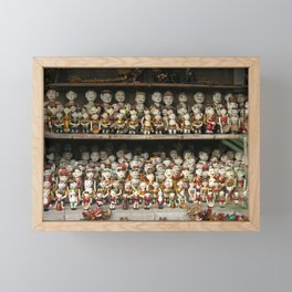 Vietnamese Water Puppets Dolls Framed Mini Art Print