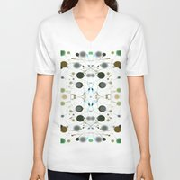 dots V-neck T-shirts featuring Dots by writingoverashes