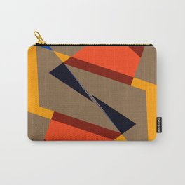 geometric symmetry orange and yellow Carry-All Pouch
