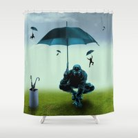 winter soldier Shower Curtains featuring Winter Soldier by Tony Vazquez