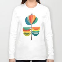 whimsical Long Sleeve T-shirts featuring Whimsical Bloom by Picomodi