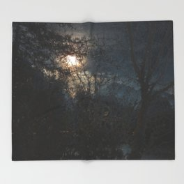 New Year's Moonlit River Throw Blanket
