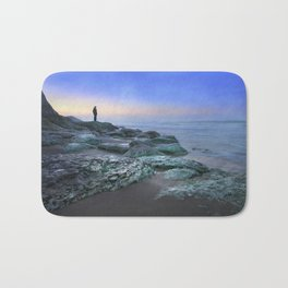 """Evening view"" Bath Mat"