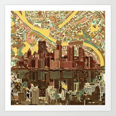 pittsburgh city skyline Art Print