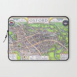 OXFORD university map ENGLAND dorm decor Laptop Sleeve