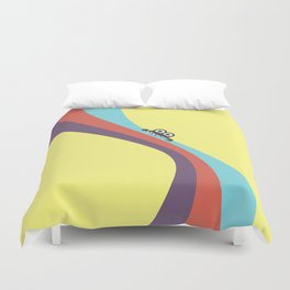 Funny Bug Bites Candy Colored Stripes Duvet Cover