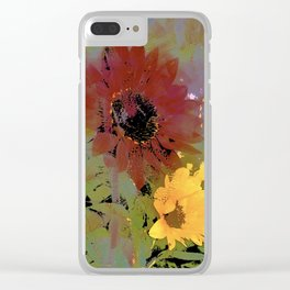 Sunflower 33 Clear iPhone Case