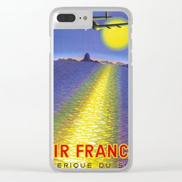 Amerique Du Sud - Vintage Air France Travel Poster Clear iPhone Case