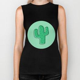 Cactus Pattern Biker Tank