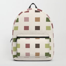 Squares pattern woods Backpack