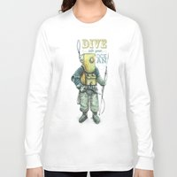 diver Long Sleeve T-shirts featuring Diver by pakowacz