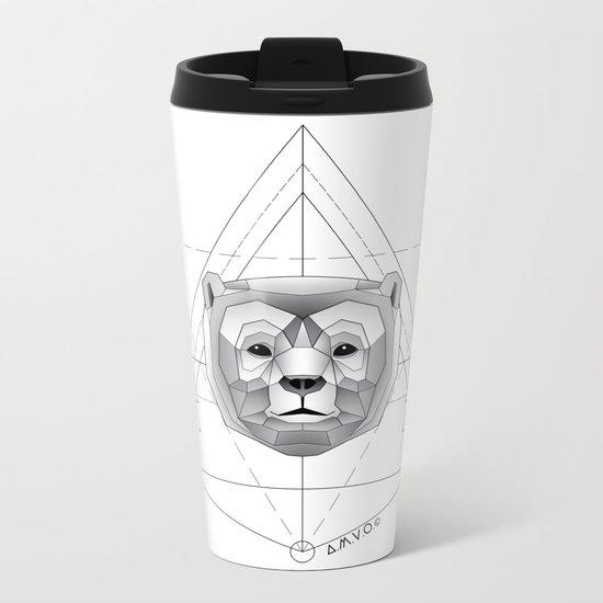 Geometric Bear Metal Travel Mug