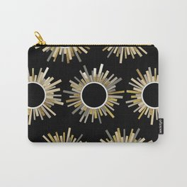 Art Deco Starburst in Black Carry-All Pouch