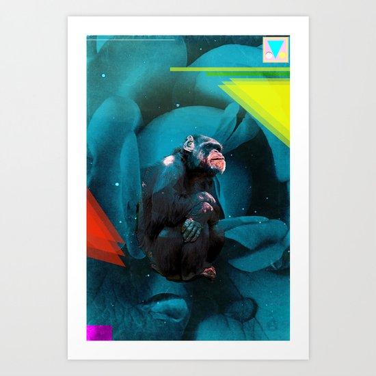 Space Chimp Art Print