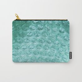 Aqua Bubble Wrap Carry-All Pouch