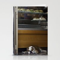 english bulldog Stationery Cards featuring English Bulldog by sovichka