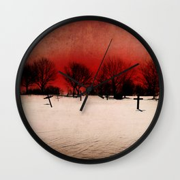 Cemetery's Dawn Wall Clock