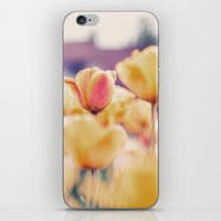 tulips iPhone & iPod Skins featuring Tulips by elle moss