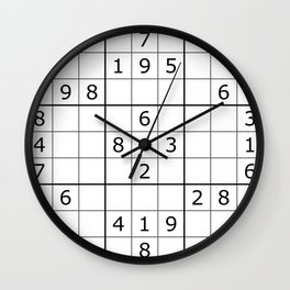 Number Game Wall Clock