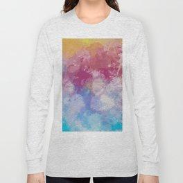 Bright Pastel Paint Splash Abstract Long Sleeve T-shirt