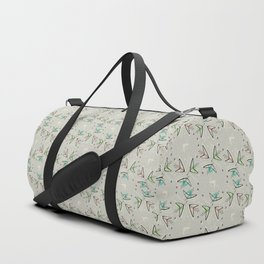 Cosmic Tulips on Lunar Gray Duffle Bag
