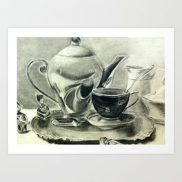 Coffee Then  Art Print