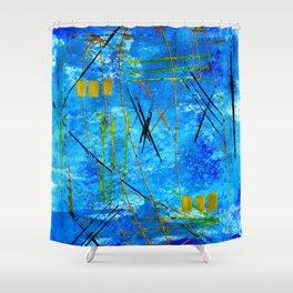I got the blues Shower Curtain