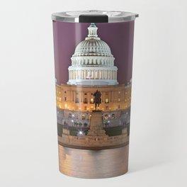 Glowing Washington DC Capitol Travel Mug