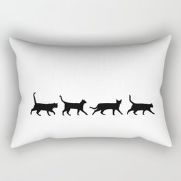 Kitty Conga Line Rectangular Pillow