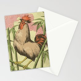BASAN (fire-breathing rooster) Stationery Cards
