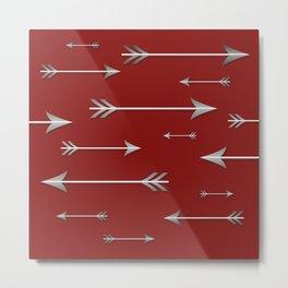 Arrows on Red Metal Print
