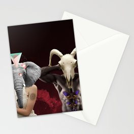 Surreal collage - Double portrait Stationery Cards