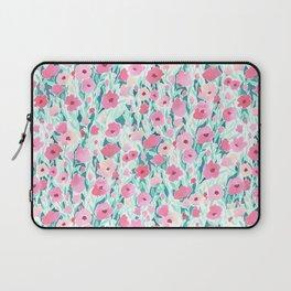 Flower Field Pink Mint Laptop Sleeve
