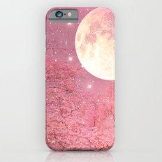 Surreal Fantasy Fairy Tale Pink Nature Trees Stars Full Moon iPhone 6s Slim Case