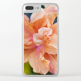 Jane Cowl Tropical Hibiscus Alternate View Clear iPhone Case