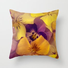 Viola bed. Throw Pillow