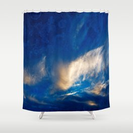 Glowing Acrylic Clouds Shower Curtain