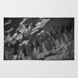 Winter mountain cabin Rug